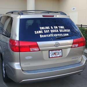 Delivery Decal | Bearcat Express Same-Day Courier Delivery Augusta GA, Athens GA and Atlanta GA